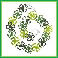 Pier 1 imports St. Patrick's Day Felt Shamrock 5' Garland - FREE SHIPPING
