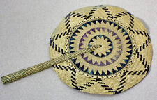 Vintage Handmade Round Woven Hand Fan
