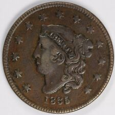 1835 1c Coronet or Matron Head N-4 Large Cent UNSLABBED