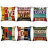 Cushion Linen Cotton Cover Square Case Waist Decorative Sofa Throw Pillow Home