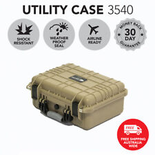 Utility Hard Case Desert Tan Protective Travel Drone Camera Storage Waterproof