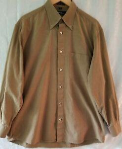 Mondo di Marco Men button down dress shirt made in Italy size 32-33 gold color