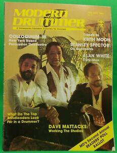Modern Drummer Feb Mar 1980 Keith Moon Alan White Spector Iss15 NO LABEL Premium