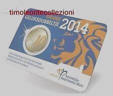 Olanda   10 cent € 2014 Oranje Geluksdubbeltje   coincard