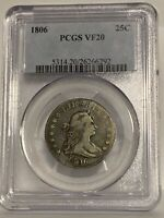 1806 Draped Bust Quarter PCGS VF 20
