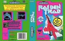 Raiden Trad  Sega Genesis NTSC USA Replacement Box Art Case Insert Cover Scan