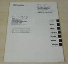 Pioneer CT-447 Bedienungsanleitung mehrsprachig, auch in Deutsch