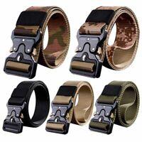 Men's Belt Quick Release Buckle Outdoor Safety Belt Tactical Belt Training Belt