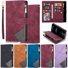 Zipper Matte Wallet Leather Flip Case For Samsung A52 A22 A12 A42 S21 S20 S10 S9