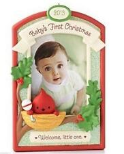 HALLMARK 2013 BABY'S Boy Girl FIRST CHRISTMAS Personalize Photo Frame Ornament