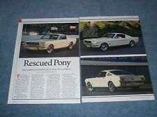 "1965 Ford Mustang Fastback 2+2 Article ""Rescued Pony"""