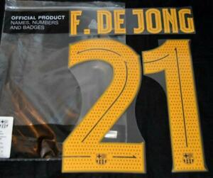 Barcelona De Jong 21 19/20/2 Football Name/Number Player issue champions league