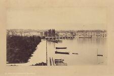 Genève Panorama Suisse Schweiz Photo A. Braun Vintage Albumine ca 1865