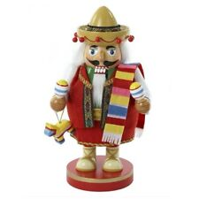 Chubby Mexican Wood Christmas Nutcracker 10.25 Inch J1410 New