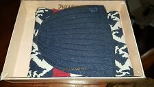Juicy Couture Scotty Dogs Scarf And Hat Set NEW in Box