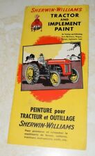 1950s Sherwin-Williams Tractor and Implement Paint Chips Brochure Vintage Farm