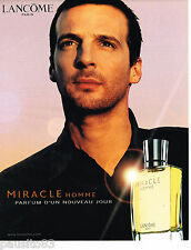 PUBLICITE ADVERTISING 065  2002  LANCOME   parfum homme MIRACLE