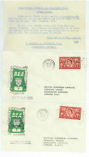 1953 Great Britain BEA First Flight Cover Full Set w/Provenance