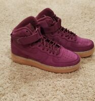NIKE AF1 HIGH GS Nike Air Force 1 High Bordeaux  922066-600 Maroon size 4y