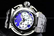 Invicta 46mm Coalition Forces Wide Lug High Polish Blue Silver MOP Chrono Watch