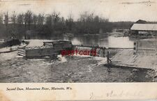 1906 MARINETTE WI Second Dam Menominee River. mailed to Clark McCabe
