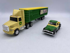 Hamilton Collection Ertl John Deere Tractor Truck With Trailer & Pickup Lot Set