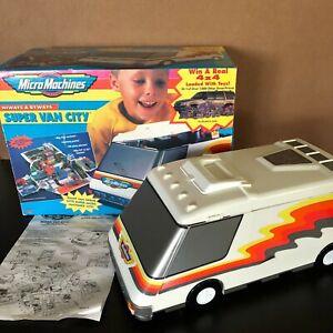 Micro Machines Super Van City Set Box & Instructions Galoob Vintage Playset 1991