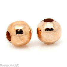 1000PCs Spacer Beads Round Rose Gold 4mm Dia.