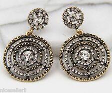 1 Pair Elegant White Crystal Rhinestone  Ear Drop Dangle Stud long Earrings 253