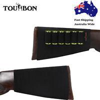 Tourbon Shotgun Cartridges Holder Shell Ammo Carrier Gun Buttstock Sleeve Black