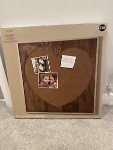 Next Heart Cork Pinboard