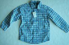 NWT Gymboree Boys  Blue Navy Plaid Button Down Collared Shirt