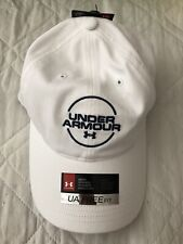 Under Armour Golf  Cap White Adjustable NWT $28 OSFM