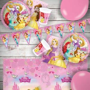 Disney Princess Happy Birthday Party Tableware, Decorations & Balloons