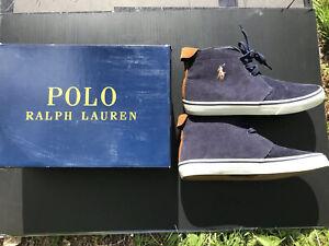 Polo Ralph Lauren Men's Talin Sneaker Corduroy Size 10 D(M) Navy L@@K 🔥🔥🔥