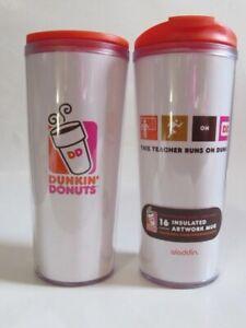 (New) Dunkin Donuts Coffee 16oz Cup Travel Mug This Teacher Runs on Dunkin