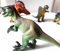 Dinosaur plastic toy animal figures toys children school prehistoric - Pack of 6