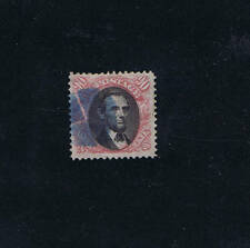 SCOTT# 122 USED 90 CENT LINCOLN RARE BLUE CANCEL, 1869, HIGH CAT VAL USED