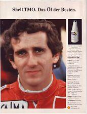 Alain PROST - F1 - Shell TMO - historische Reklame - alte Annonce - Werbung -
