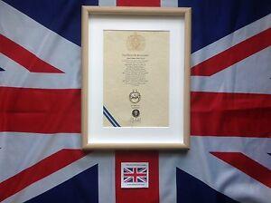 Oath Of Allegiance Kings Own Royal Border Regiment (framed with Cap Badge)