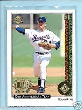 "Nolan Ryan 1999 99 Upper Deck ""10th Anniversary Team"" #X9  Texas Rangers"