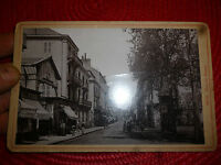 Vichy Rue de Nimes Photographie ancienne sur carton 1900