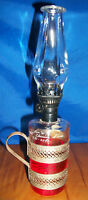 VINTAGE MINIATURE HONG KONG Kerosene Oil LAMP