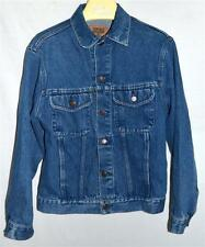 GAP Blue Jean Womens Washed  Denim Jacket with Button Flap Chest Pockets Size M