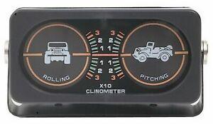 Rampage Universal Jeep Pitch & Roll Clinometer & CJ Graphic (w/o Compass) 791005
