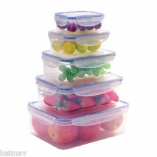Keimavlock 10-Pc Airtight Food Storage Container Box Set with Leakproof Lid
