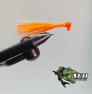 Orange Crush - 2 Pack Marabou Jigs 3x Strong Steelhead Salmon Trout Jigs