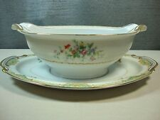 NEW PORT by Kingswood China Occupied Japan Gravy Boat with Attached Underplate