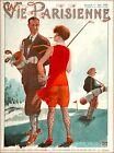 1929 La Vie Parisienne Golf Golfer Girl France French Travel Poster Print
