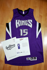 DeMarcus Cousins 15-16 Kings Game Worn Used Road Jersey LOA